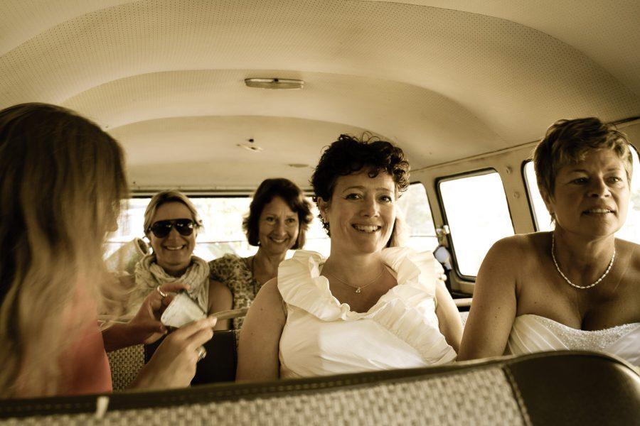 Volkswagenbusje huwelijk